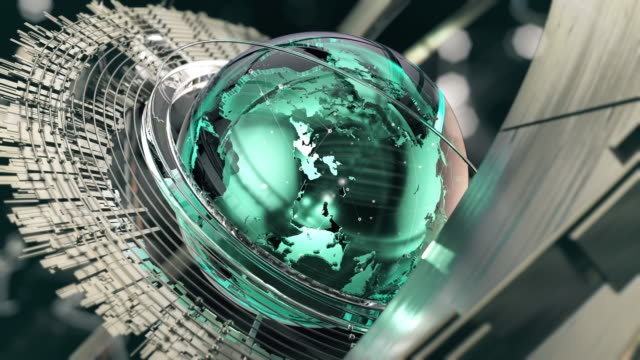 glass globe - teal stock videos & royalty-free footage