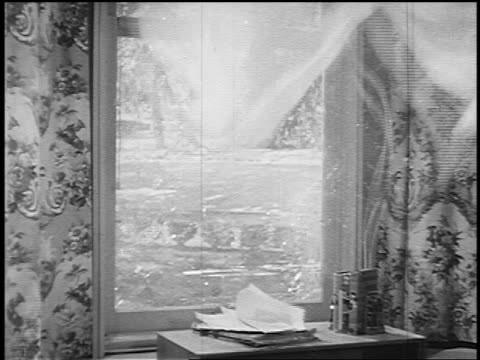 b/w 1951 glass in window being blown out in nuclear explosion - weapons of mass destruction stock videos & royalty-free footage