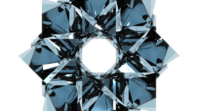 3D Glass Kaleidoscope Design Element