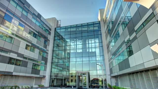 glass modern building - glass material stock videos and b-roll footage
