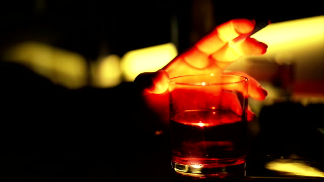 glass of alcohol.close up - unrecognizable person stock videos & royalty-free footage