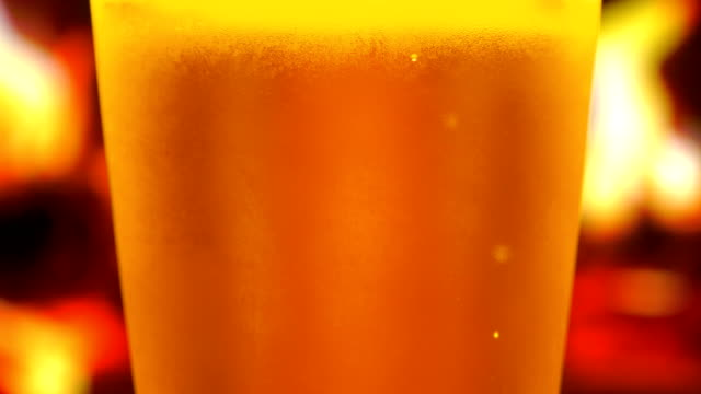 glass of bear - empty beer glass stock videos and b-roll footage