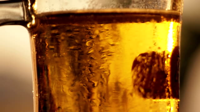 Glass of beer close-up