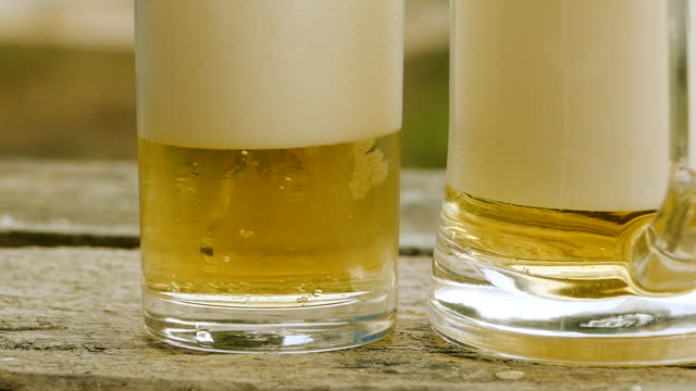 glass of beer - bricco video stock e b–roll