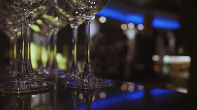 glass of champagne and wine - champagne flute stock videos & royalty-free footage