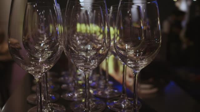 Glas voor champagne en wijn