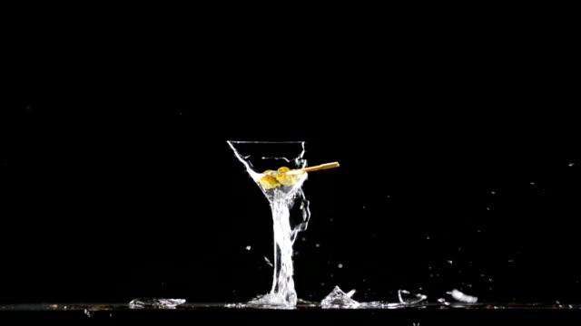 glass of martini explode - cocktail stock videos & royalty-free footage