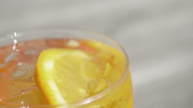Glass of Orange Spritz Cocktail