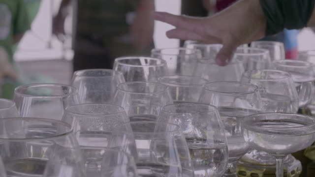 glass player - drinking glass stock videos & royalty-free footage