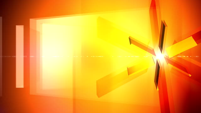 Glass Prism Wheel Background Orange