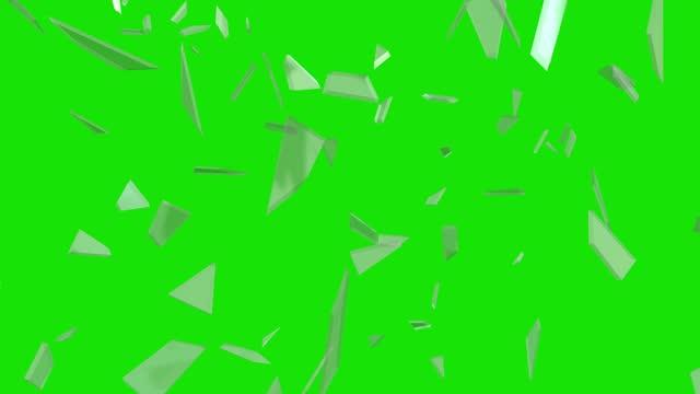 vidéos et rushes de éclat de verre, superposition, isolé, clé chromatique, canal alpha - cassé