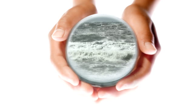 glass world in hand