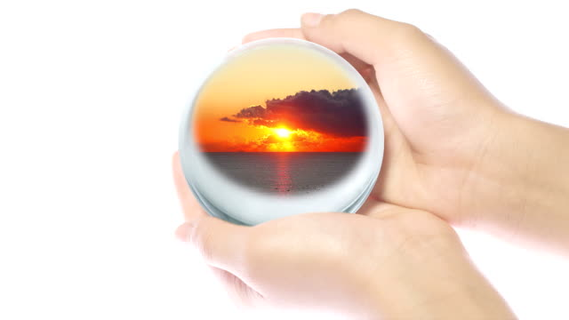 glass world in hand - plusphoto stock videos & royalty-free footage