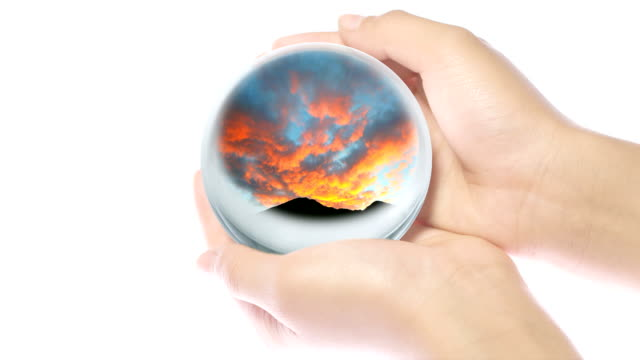 glass world in hand