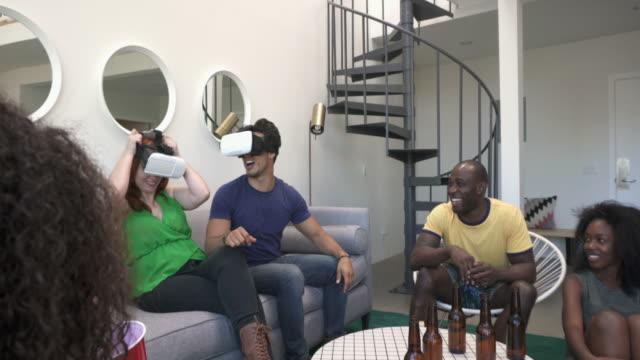 MONTAGE - VR Glasses Device Party Friends Loft California