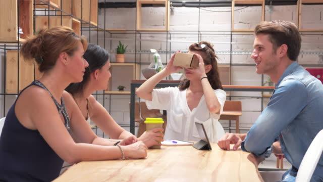 VR glasses in the office