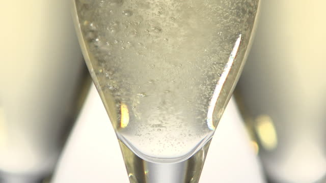 glasses of champagne against white background, real time - champagne stock videos & royalty-free footage