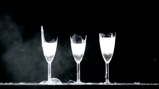 3 glasses of champagne explode - transparent stock videos & royalty-free footage
