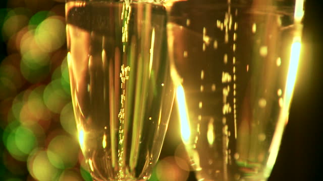 glasses of champagne. - champagne flute stock videos & royalty-free footage