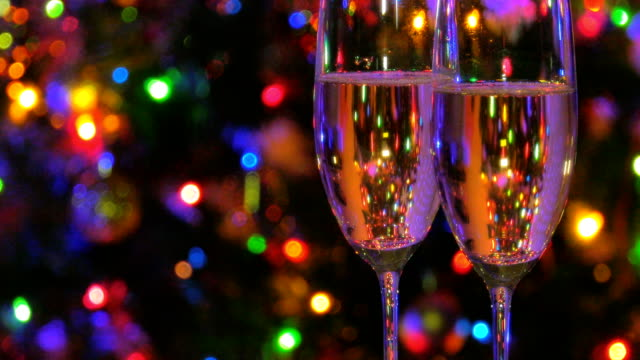 glasses of champagne - champagne flute stock videos & royalty-free footage