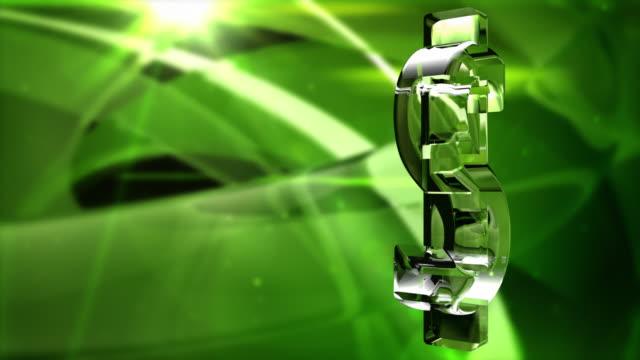 vídeos de stock, filmes e b-roll de símbolo do dólar de águas espelhadas giro fundo hd loop-verde vibrante - fazer dinheiro