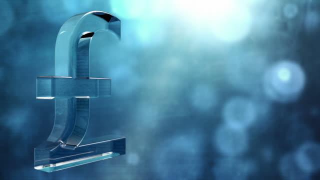 vídeos y material grabado en eventos de stock de símbolo de la libra esterlina trasparente spin bucle de fondo-azul de alta definición - símbolo de la libra esterlina