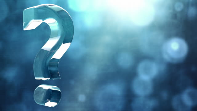 glassy question mark spin background loop - textured blue hd - question mark stock videos & royalty-free footage