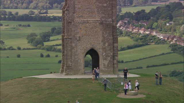 glastonbury tor - glastonbury tor stock videos & royalty-free footage