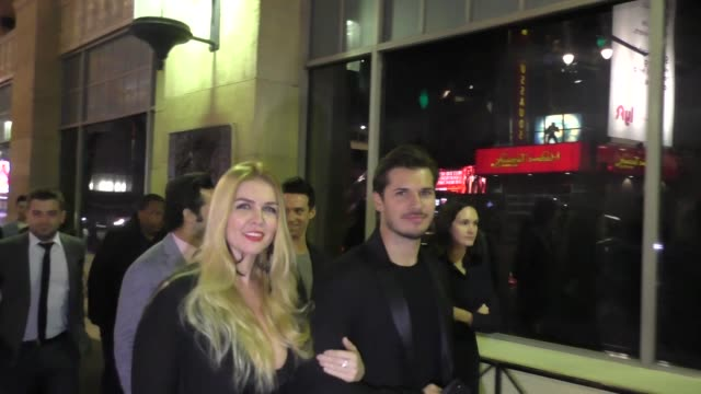 Gleb Savchenko and Elena Samodanova leave the premiere of Father Figures at TCL Chinese Theatre in Hollywood at Celebrity Sightings in Los Angeles on...