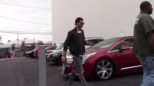 gleb savchenko arrives at the dwts rehearsal studio in hollywood in celebrity sightings in los angeles on - dancing with the stars stock videos & royalty-free footage