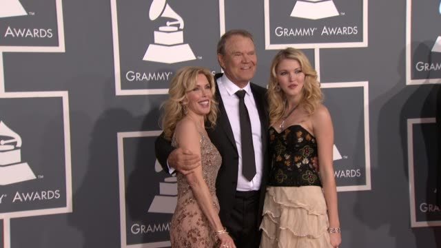 Glen Campbell and family at 54th Annual GRAMMY Awards Arrivals on 2/12/12 in Los Angeles CA
