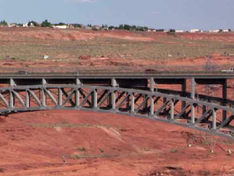 ms, zo, glen canyon bridge, page, arizona, usa - page arizona stock videos and b-roll footage