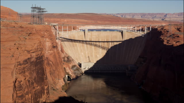 glen canyon dam, lake powell shadow timelapse - hydroelectric power stock videos & royalty-free footage