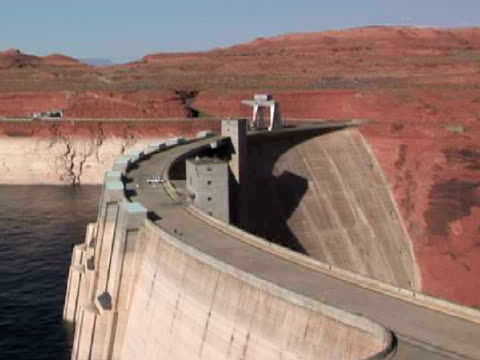 ha, ms, zi, glen canyon dam, page, arizona, usa - page arizona stock videos and b-roll footage