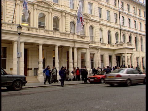 fa decision lancaster gate press outside football association hq brian woolnough interviewed sot something changed about hoddle since he became... - football association stock videos & royalty-free footage