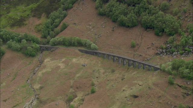 glen ogle and old viaduct - stirling stock videos & royalty-free footage