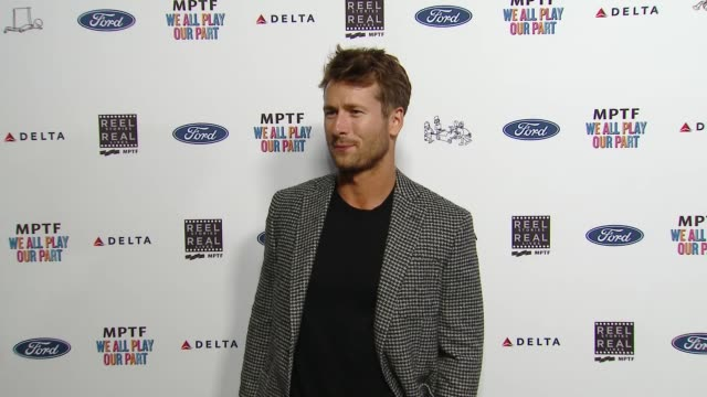 glen powell at the 7th annual reel stories real lives event benefiting mptf at directors guild of america on november 08 2018 in los angeles... - director's guild of america stock videos & royalty-free footage