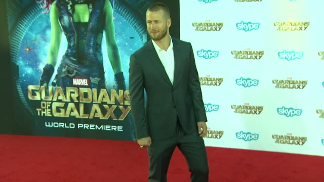 """glen powell at the """"guardians of the galaxy"""" world premiere at the el capitan theatre on july 21, 2014 in hollywood, california. - el capitan theatre stock videos & royalty-free footage"""