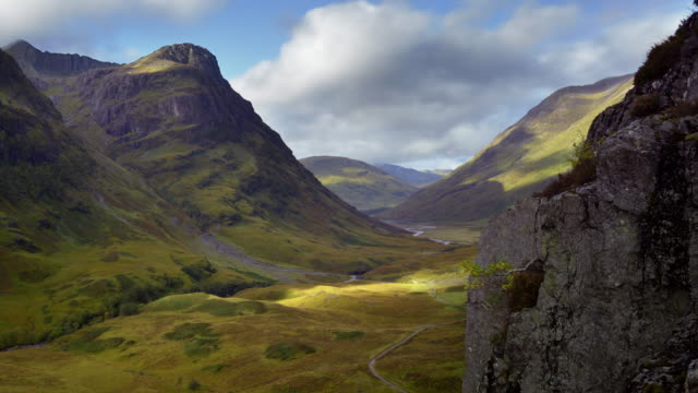 Glencoe and the three sisters of Bidean nam Bian in the Scottish Highlands