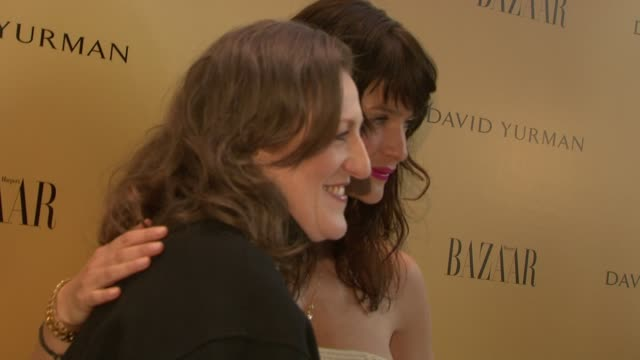 Glenda Bailey and Helena Christensen at the Harper's Bazaar Celebrates Peter Lindbergh and Holly Fisher's New Film Everywhere At Once at Borough of...