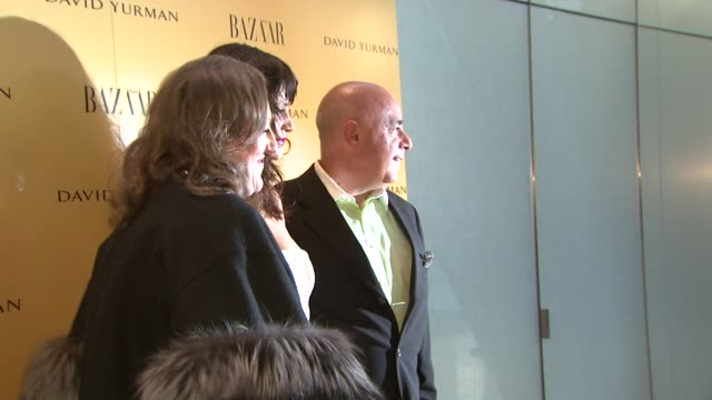 glenda bailey helena christensen and guest at the harper's bazaar celebrates peter lindbergh and holly fisher's new film everywhere at once at... - community college stock videos & royalty-free footage