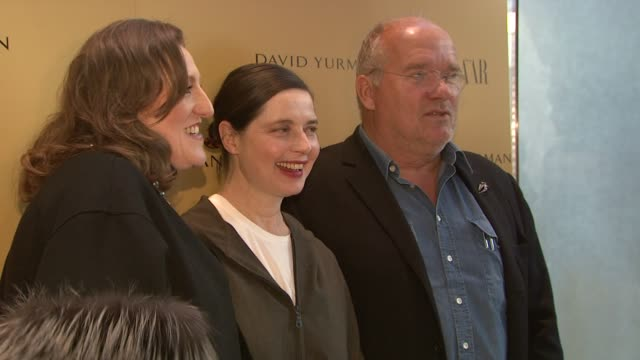 "glenda bailey, isabella rossellini, and peter lindbergh at the harper's bazaar celebrates peter lindbergh and holly fisher's new film ""everywhere at... - community college stock videos & royalty-free footage"