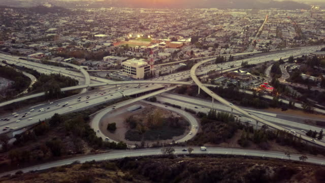 Glendale 134Fwy, 2 Fwy échange, Los Angeles - tir de Drone