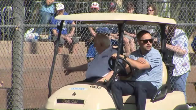 ktla – glendale az us dodgers coaches during team spring training at camelback ranch in glendale arizona us on tuesday february 18 2020 - spring training stock videos & royalty-free footage
