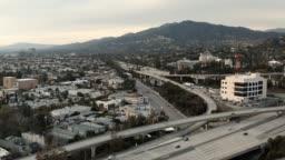 Glendale California 134 & 2 Freeway Aerial Drone Video