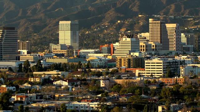 glendale skyline - glendale california stock videos & royalty-free footage