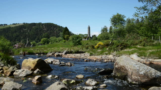 stockvideo's en b-roll-footage met glendalough, in ierland - geruïneerd