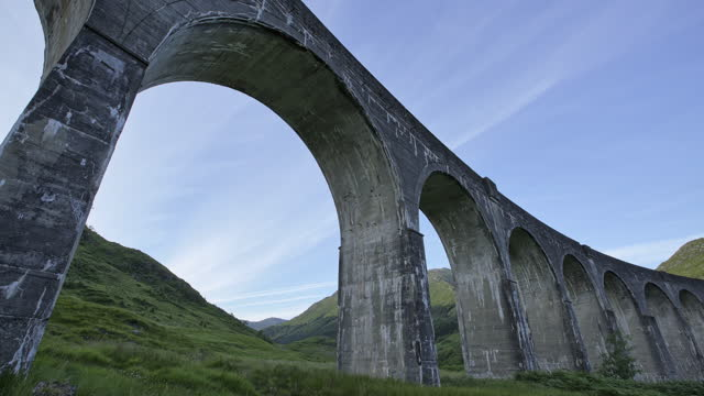 glenfinnan viaduct (elevated bridge) / scotland, united kingdom - arch stock videos & royalty-free footage