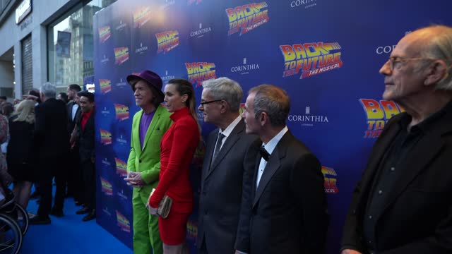 glenn ballard, steph whittie, bob gale, donovan g mannato, christopher lloyd attends the opening of 'back to the future the musical' on september 13,... - art and craft stock videos & royalty-free footage