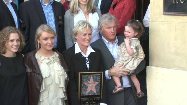 Glenn Close and family at the Glenn Close Receives a Star on the Hollywood Walk of Fame at Los Angeles CA